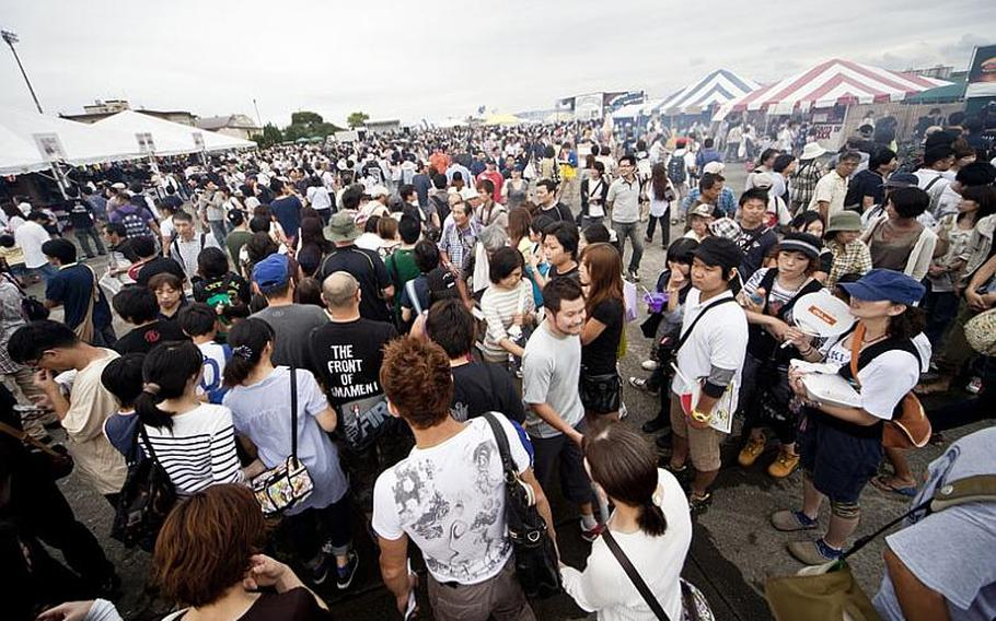 Tens of thousands of visitors filled Yokota's flight line Aug. 20, 2011, for the annual Japanese-American Friendship Festival.