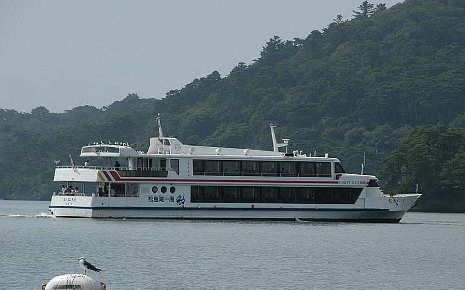 Dozens of harbor cruise ships have returned to work since the tsunami, ferrying tourists around the Matsushima islands. The islands were the subject of a famous haiku by the Japanese poet Matsuo Basho.
