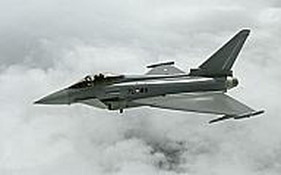 The Eurofighter Typhoon is one of three planes the Japanese government is looking at as a possible replacement for its aging fleet of F-4 fighters.