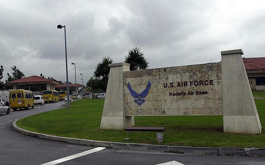 Kadena Air Base, one of the largest U.S. air bases overseas, is about five miles north of the Marine Corps' Futenma air station, which the U.S. and Japan plan to close.