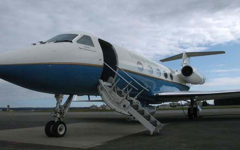 The C-20A used by NASA for its UAVSAR missions is a converted Gulfstream jet. A mysterious Gulfstream IV — tail number N515JA — returned to Michigan on Aug. 5, 2021, landing at Ypsilanti's Willow Run Airport at 5:31 p.m.