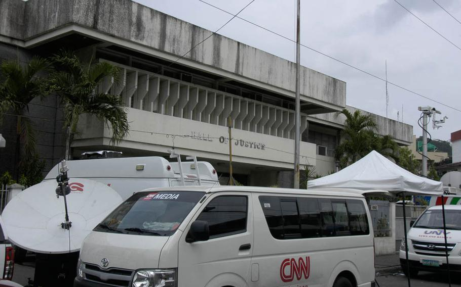 The Hall of Justice in Olongapo City, Philippines, has been the focus of media attention during the trial of Pfc. Joseph Scott Pemberton, a U.S. Marine accused in the killing of transgender woman Jeffrey 'Jennifer' Laude in October 2014.