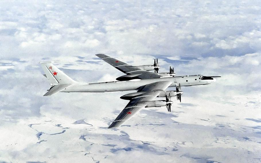 A Russian Tupolev Tu-142 Bear aircraft, like the one picture here, flew as low as 500 feet Tuesday morning, Oct. 27, 2015, near the USS Ronald Reagan, which has been conducting scheduled maneuvers with South Korean navy ships in international waters east of the Korean Peninsula.