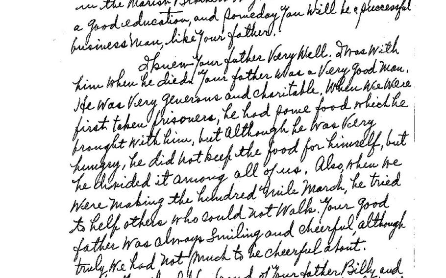 A letter dated to 1955 from a man who knew Bill Evans exhorts his son to be proud of his father.