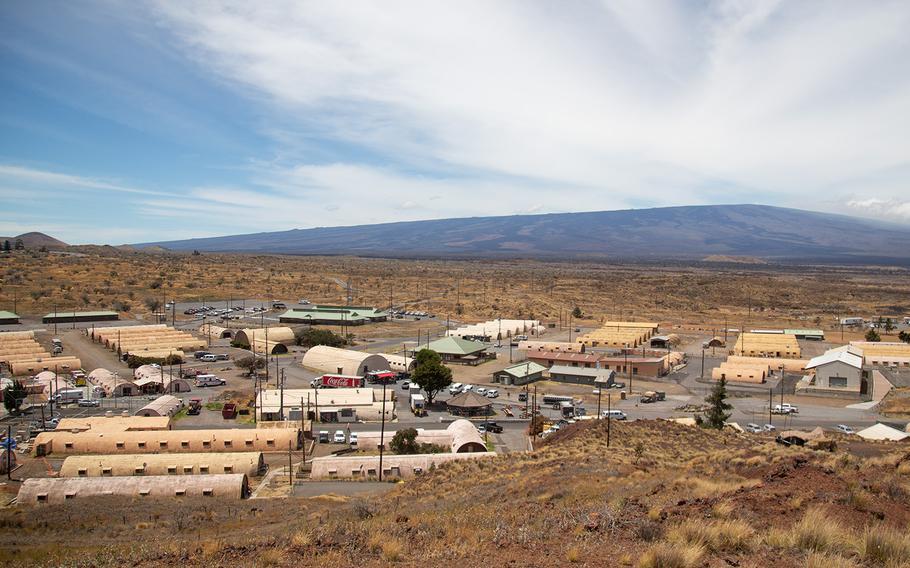 The Pohakuloa Training Area base camp in Hawaii is seen Tuesday, July 17, 2018.