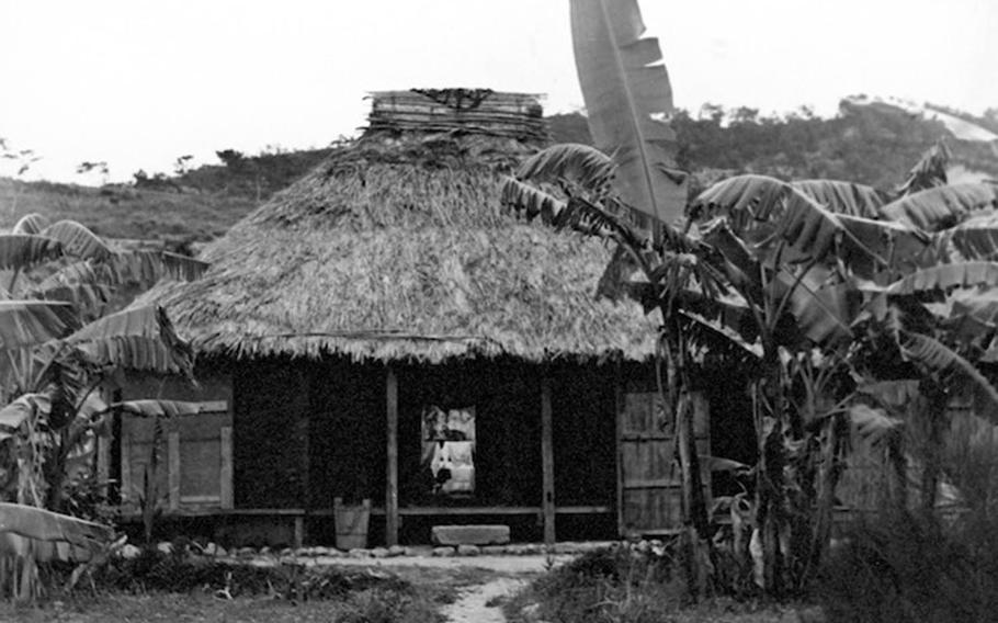 This photo of an Okinawan home was taken by Army Capt. Charles Gail while he was stationed on the Japanese island prefecture in the early 1950s.