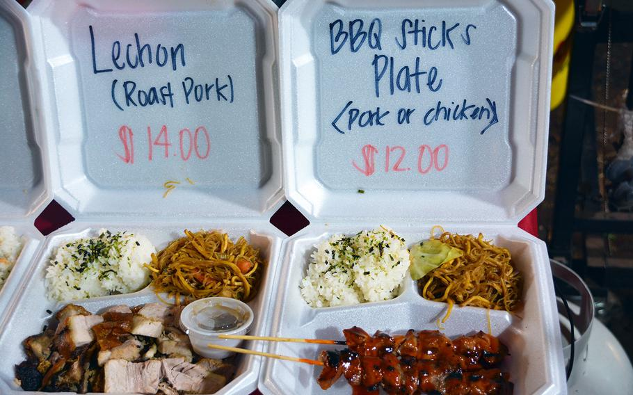 Throngs of diners are drawn in by the hubbub of a popular Honolulu food truck haven — but most stay for the diversity of offerings, which includes everything from Hawaiian, Thai, Japanese, Filipino, Vietnamese and even Laotian food.