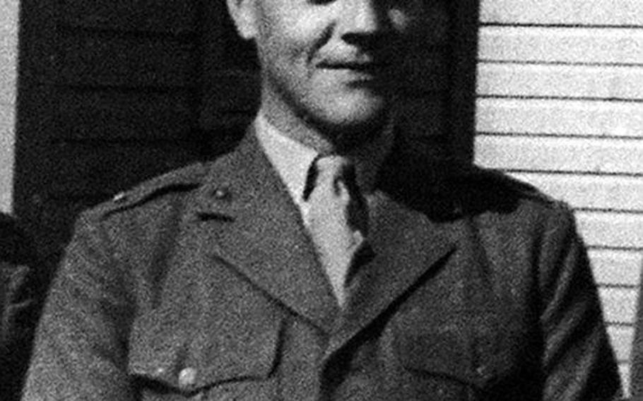 This photo of Alexander Bonnyman Jr. was taken in New Zealand before the Marine first lieutenant shipped out for Tarawa atoll during World War II.