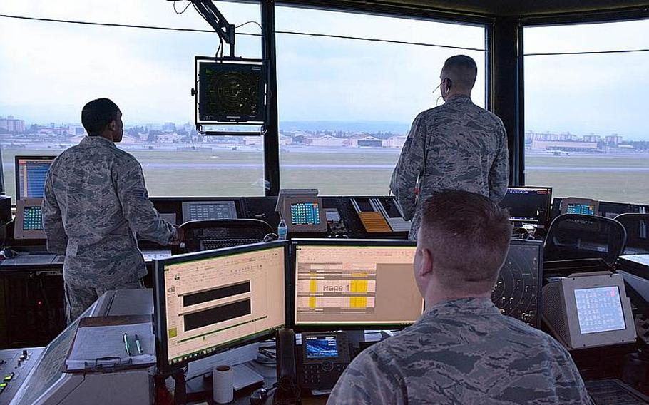 The 374th Operational Support Squadron at Yokota Air Base controls air traffic over Tokyo's western suburbs and parts of Saitama, Tochigi, Gunma, Kanagawa, Shizuoka, Niigata, Nagano and Yamanashi prefectures.
