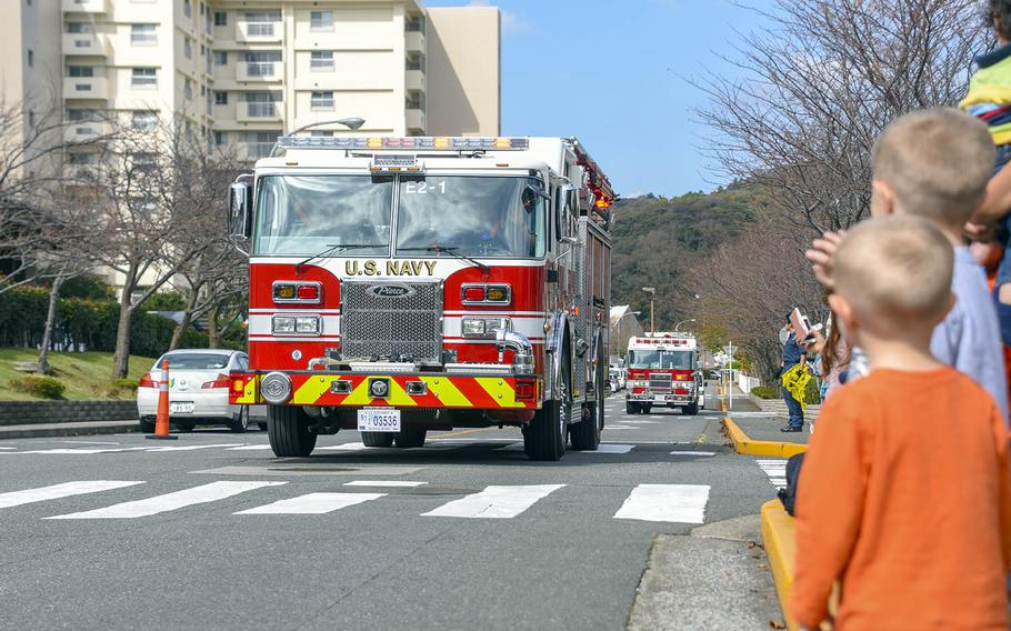 Ikego residents take part in the annual fire department open house at Yokosuka Naval Base, Japan, Oct. 20, 2018.