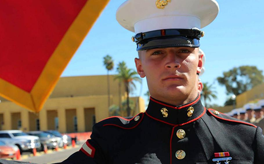 Charges have been dismissed against Okinawa-based Marine Sgt. Morgan Bergdahl, who was accused of sexually assaulting a female Marine April 21, 2018.