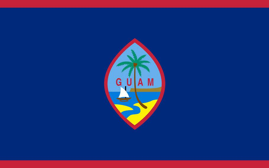 The flag of the United States territory of Guam.