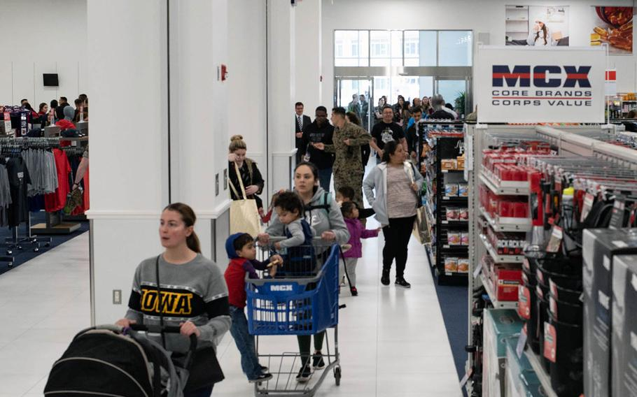 The new Marine Corps Exchange at MCAS Iwakuni, Japan, shown here on opening day, Thursday, March 14, 2019, cost more than $60 million to build.