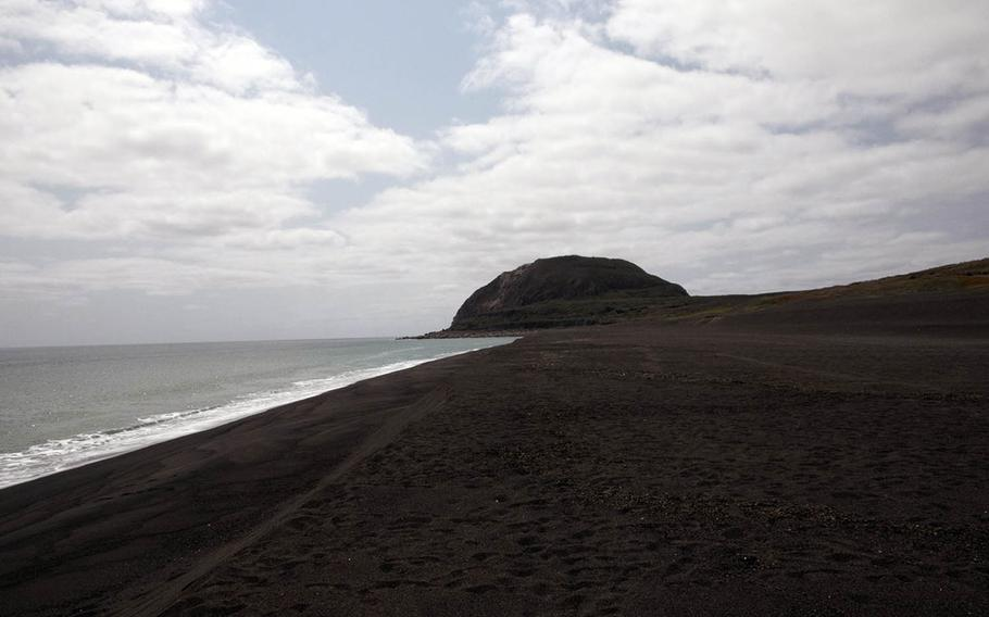 The invasion beach on Iwo To, formerly known as Iwo Jima, on Friday, March 22, 2019, a day ahead of the 74th annual Reunion of Honor ceremony.