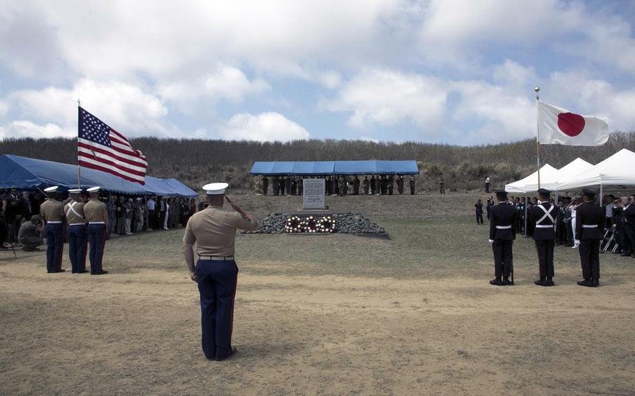 Attendees from the U.S. and Japan attended the 74th annual Reunion of Honor ceremony Saturday, March 23, 2019, on Iwo To, formerly known as Iwo Jima, to commemorate the pivotal World War II battle.