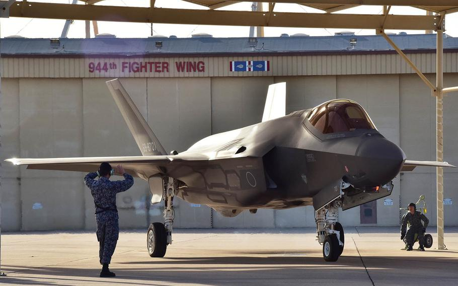 An F-35A of the Japan Air Self-Defense Force, like this one pictured Feb. 7, 2017, in Arizona, crashed into the Pacific Ocean on Tuesday, April 9, 2018.