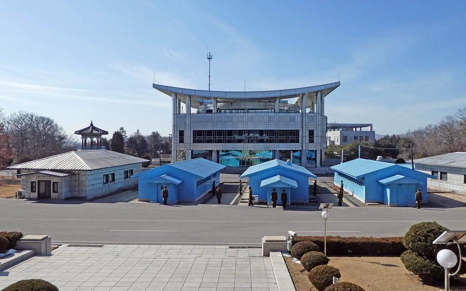 The Joint Security Area is seen from the North Korean side in this undated photo.