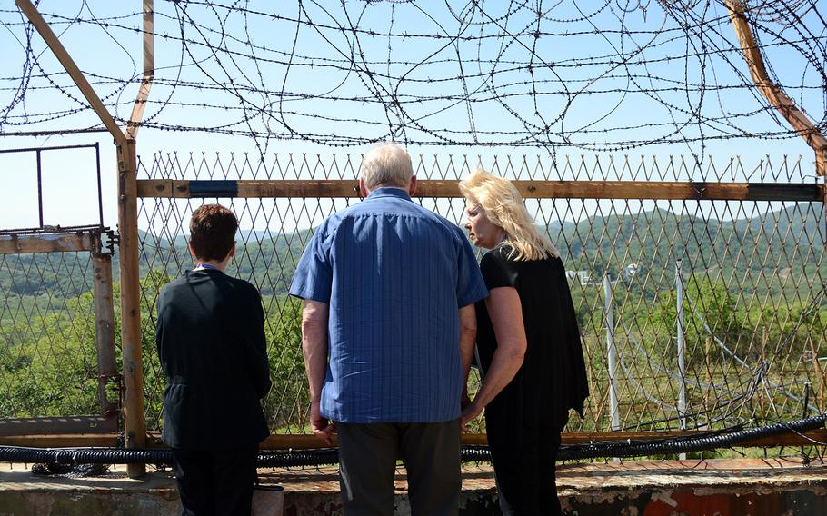 Relatives of American servicemembers whose remains have yet to be recovered visited the former Korean War battleground known as Arrowhead Hill on the South Korean side of the Demilitarized Zone, May 29, 2019.