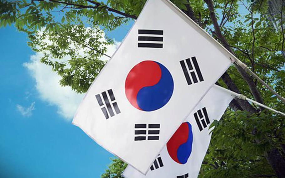 South Korea, its flag shown here in an undated photo, left open the possibility Wednesday, Aug, 28, 2019, that it could reverse its decision to withdraw from an intelligence-sharing pact with Japan.