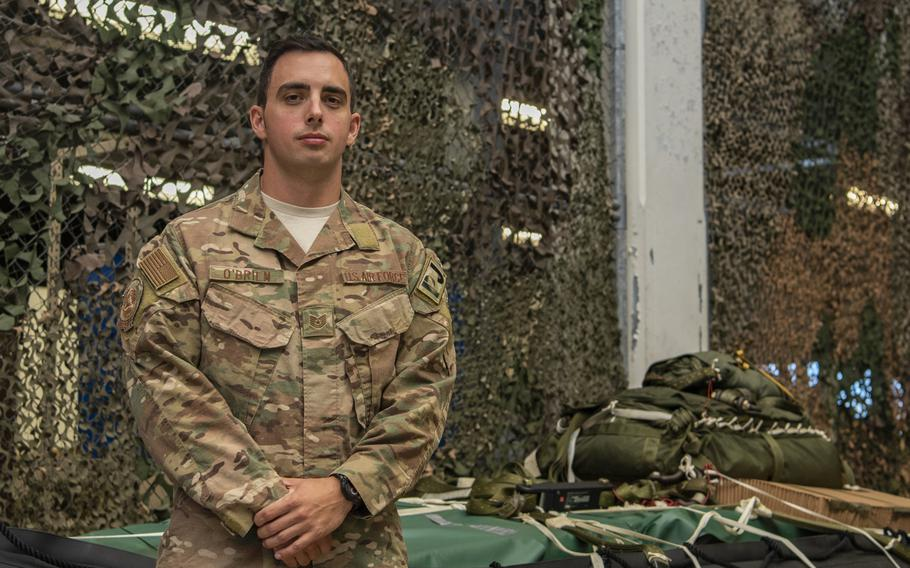 Air Force Tech. Sgt. Kenneth O?Brien of the 320th Special Tactics Squadron at Kadena Air Base, Japan, is pictured here at Kadena Air Base, Japan, on July 30, 2019. O?Brien, who was one of 12 recipients of the Air Force Association?s award for outstanding airmen of 2019 on Sept. 16, 2019, saved a child's life on his way to the awards ceremony.