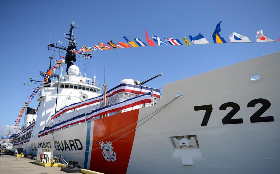 The Coast Guard cutter Morgenthau, shown here getting underway Dec. 8, 2010, at San Pedro, Calif., was the first cutter transferred to Vietnam in 2017.