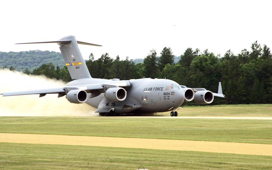 A C-17 Globemaster III departs Fort McCoy, Wis., on June 23, 2016, in this U.S. Army file photo.