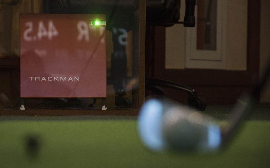 Yokota Air Base in Tokyo, Japan, has added a Trackman, a new tool to help golfers better their swings. It's shown here at the Par 3 Golf Course on Dec. 13, 2019.