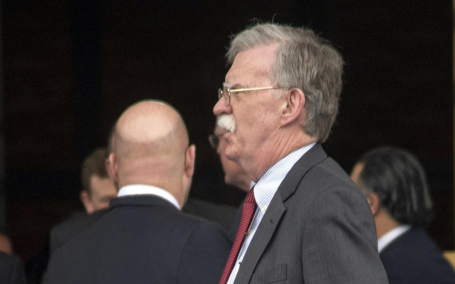 Former national security adviser John Bolton said in a tweet recently that the United States should resume full-scale military exercises with South Korea in response to the North's threat to unveil a new strategic weapon.