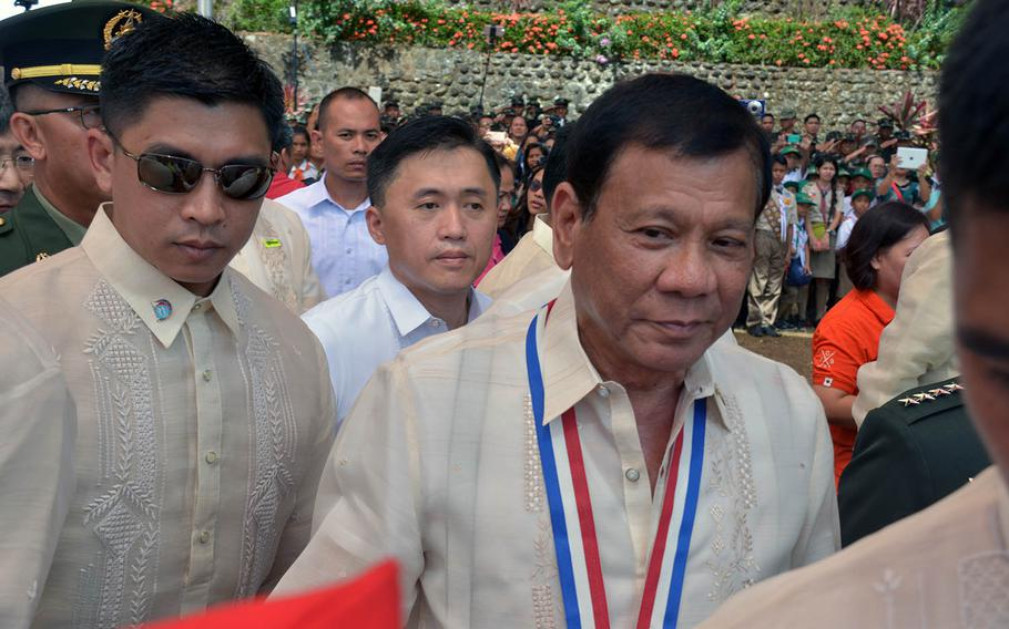 The latest anti-American remarks by Philippine President Rodrigo Duterte, shown here on April 9, 2017, could do real damage to the long-time Pacific allies' defense relationship, according to security experts.