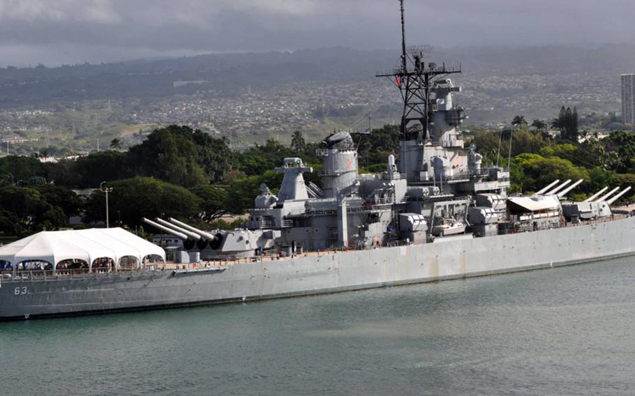 The Missouri Battleship Memorial, berthed at Ford Island in Pearl Harbor, Hawaii, will host an atomic-bomb exhibit this summer from the cities of Hiroshima and Nagasaki in Japan.