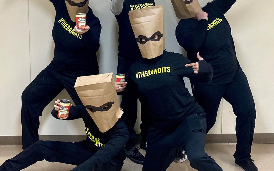 A group known as the Beefaroni Bandits has been leaving unexpected cans of Beefaroni on the doorsteps of offices and homes at Yokota Air Base in western Tokyo.