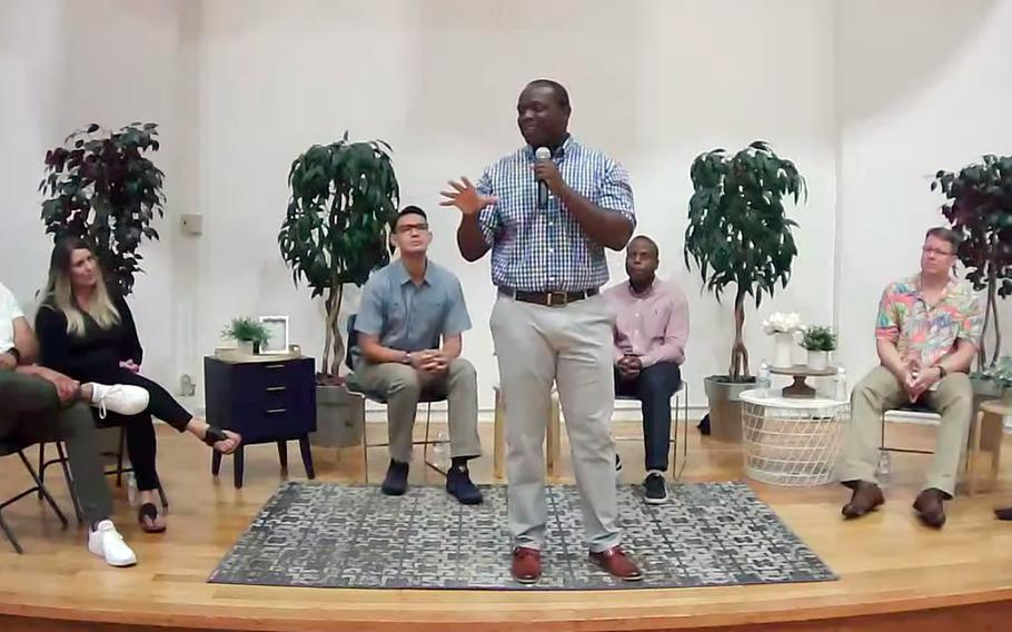 Sailors and family members at Yokosuka Naval Base, Japan, share their experiences with racism during a panel discussion streamed on Facebook Live, Friday, June 19, 2020.