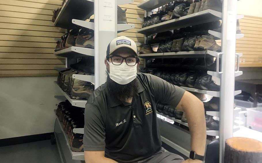Matt Silvia, photographed June 26, 2020, works with Outdoor Recreation at Yokota Air Base in western Tokyo, and says weekend outings to spots near the base have been selling out quickly.