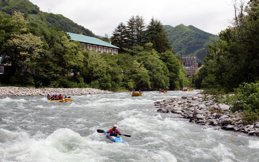 Whitewater rafting is one of many activities usually offered by Outdoor Recreation at Yokota Air Base, Japan.