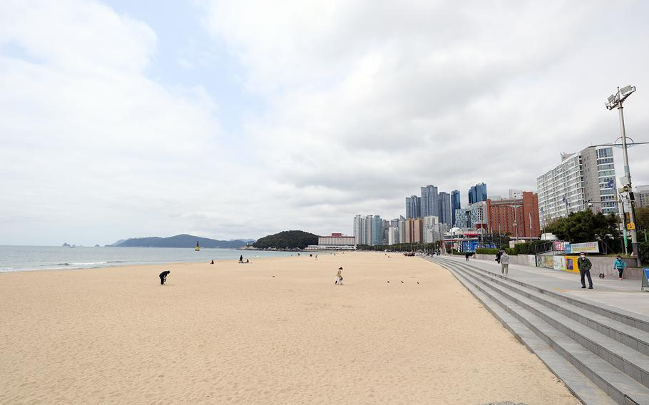 About 200 police were dispatched to break up the festivities July 4, 2020, on Haeundae Beach in Busan, South Korea, after receiving more than 70 complaints about fireworks and other unruly behavior by U.S. service members.