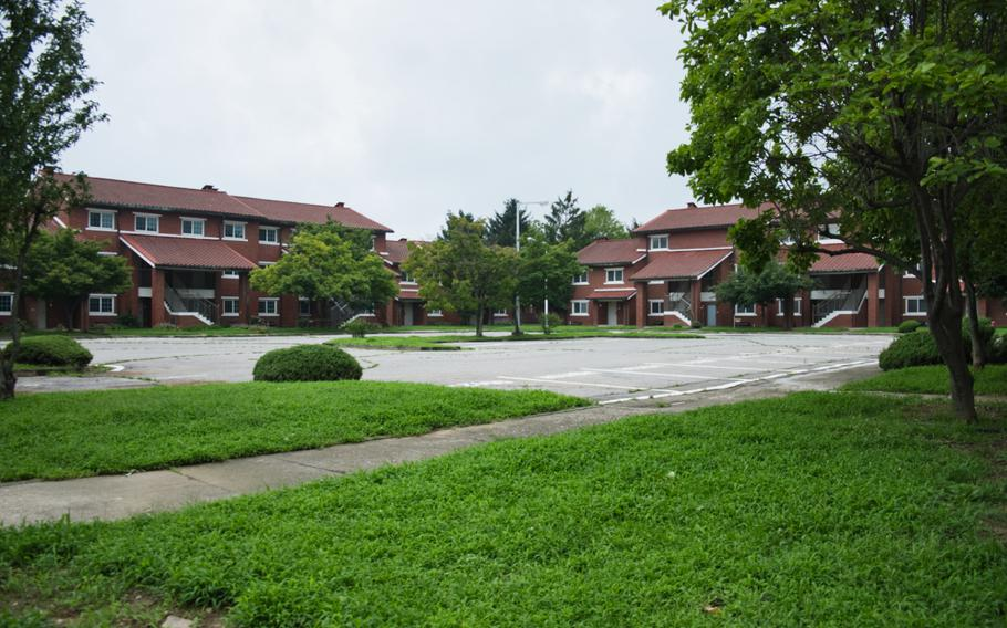 The South Korean government took ownership of Yongsan Garrison's Black Hawk Village, which consists of 18 buildings, two playgrounds and a barbecue pit, in January 2020. The brick townhouses once houses U.S. officers and their families.