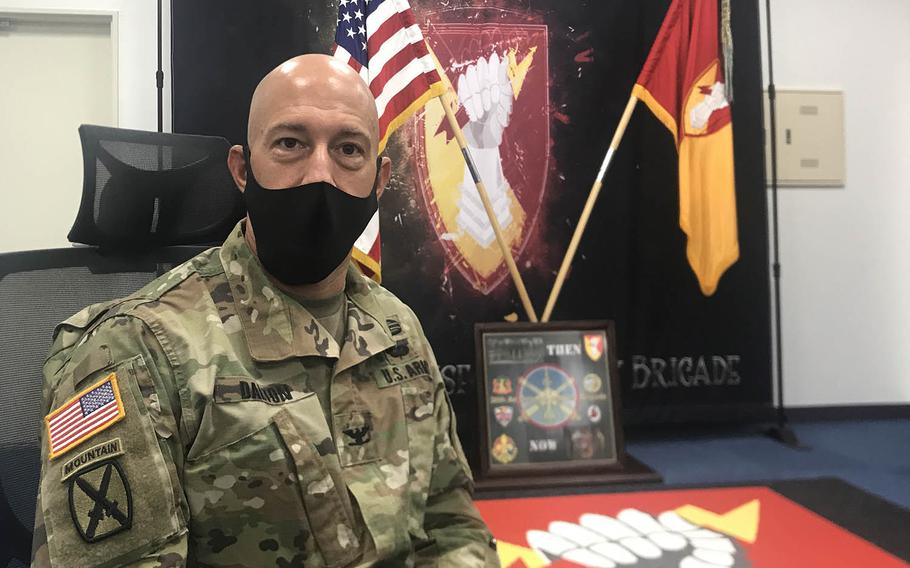 The 38th Air Defense Artillery Brigade, which reactivated at Sagami General Depot near Tokyo in October 2018, oversees air and missile defense units on mainland Japan, Okinawa and Guam, said the unit's commander, Col. Matthew Dalton.
