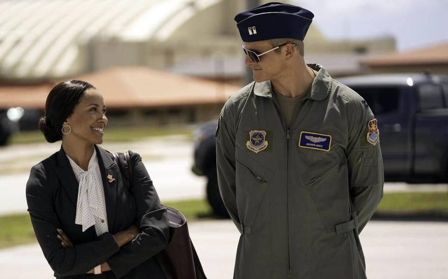 """A congressional aide meets her match in an Air Force captain in the upcoming Netflix holiday romance """"Operation Christmas Drop."""""""