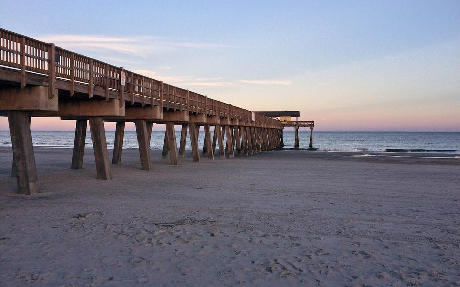 The pier at Tybee Island, Ga., a barrier island about 18 miles east of Savannah.