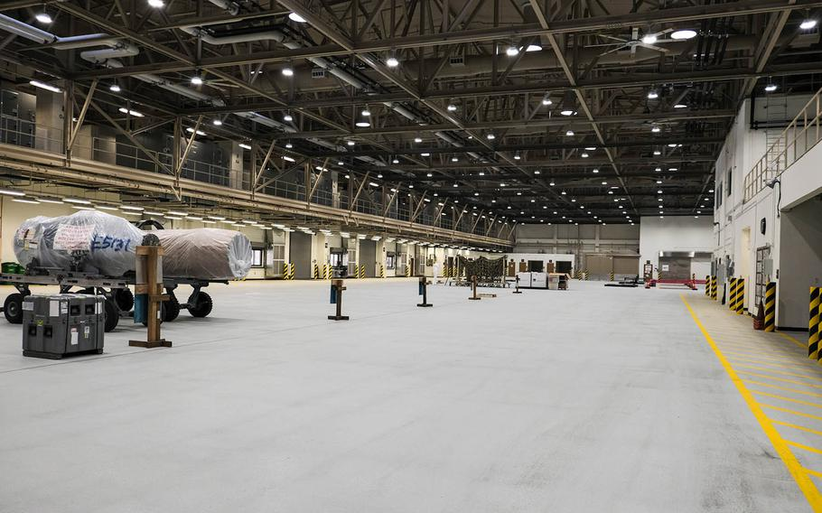 The design of a new warehouse complex at Osan Air Base, South Korea, allows for maximum efficiency and future expansion, the commander of the 731st Air Mobility Squadron, Lt. Col. Ryan Murray, said during the opening ceremony, Oct. 26, 2020.
