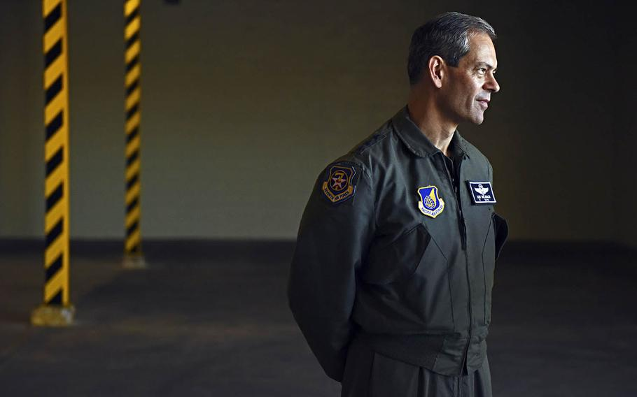 The commander of Pacific Air Forces, Gen. Kenneth Wilsbach, pictured here in November 2019, told U.S. troops they must be ready for conflict with China amid rising tensions, Friday, Nov. 6, 2020.
