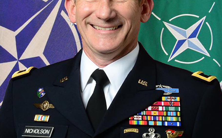 Lt. Gen. John W. Nicholson, commander Allied Land Command.