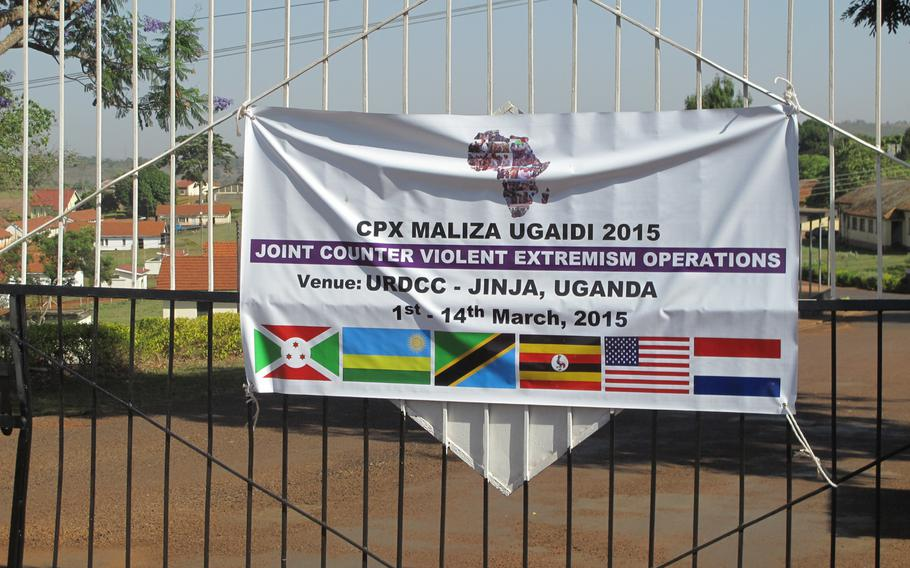 Eastern Accord, an annual training exercise designed to promote eastern African military cooperation and partnership with the U.S. ends this week. It is being held  in Jinja, Uganda, at Gadhafi Barracks - named and apparently funded by late Libya strongman deposed in 2011with NATO's help.