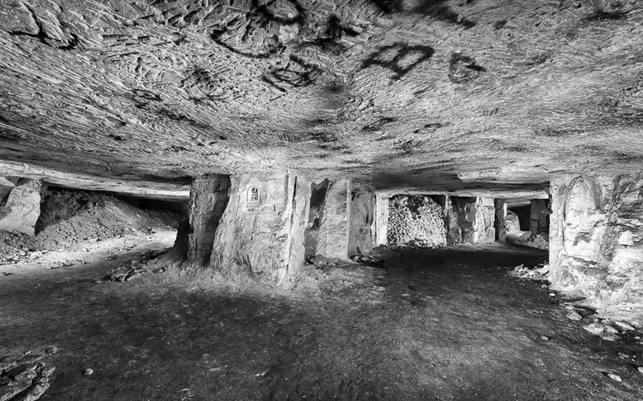 Former underground city beneath the trenches. Photographed 11 March 2013. Picardy, France.