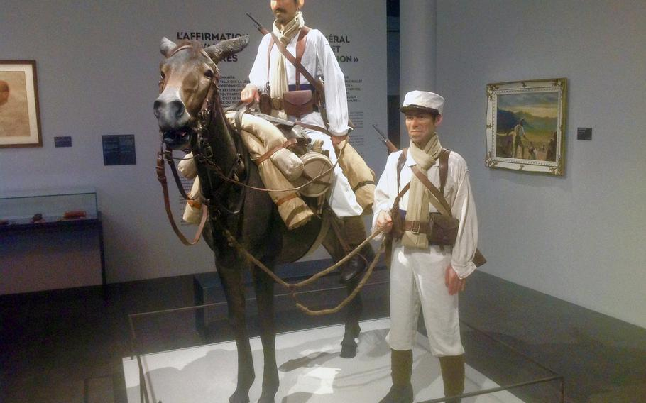 An exhibit at the Foreign Legion museum at Aubagne includes figures from the 1930s, an era featured in many Hollywood action films such as Beau Geste, Legion of Missing Men, Morocco and March or Die.