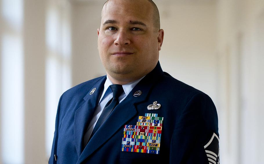 Jerred Mitchell, an Air Force master sergeant assigned to Ramstein Air Base, Germany, almost lost his pension due to being medically retired from the Air Force. He managed to just make it past 20 years after going through two medical evaluation boards and appealing to the Secretary of the Air Force to be returned to duty, an appeal that he lost.  Michael B. Keller/Stars and Stripes