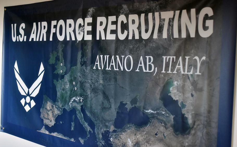 It's been more than eight years since the Air Force has had an office assigned to a recruiter at Aviano Air Base, Italy. The recruiting office, which reopened on Friday, will be permanently staffed later this year.