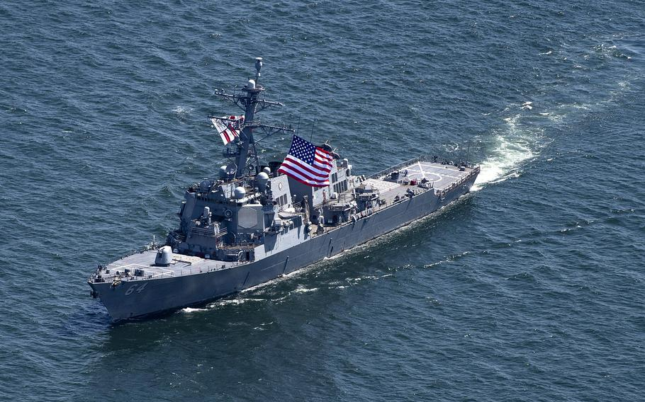 The guided-missile destroyer USS Carney sails in the Black Sea in July 2019. A report co-authored by former U.S. Army Europe commander Ben Hodges and security analyst Janusz Bugajski, released on Tuesday, May 26, 2020, calls on NATO to make the Black Sea region its focus.