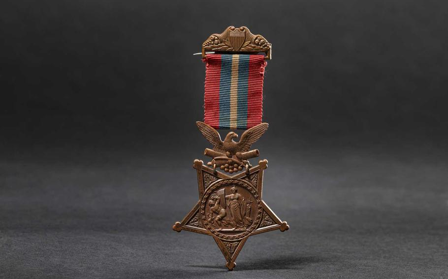 The auction house Hermann Historica in Munich, Germany is selling a U.S. Medal of Honor on Thursday that was awarded to Pvt. Thomas Kelly for actions during the Spanish-American War. The auction house expects to take in about $5,000 on the sale.