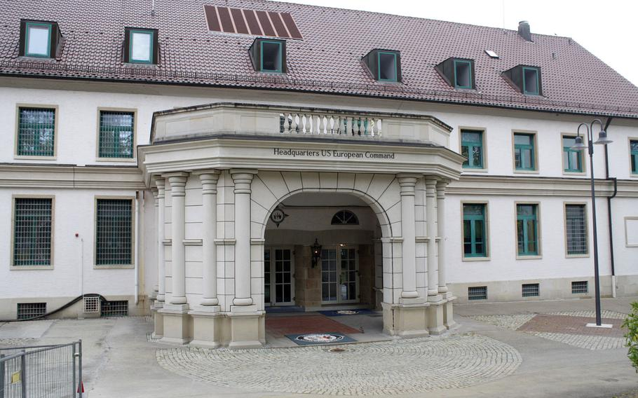 U.S. European Command, headquartered at Stuttgart's Patch Barracks, is expected to move to Mons, Belgium, as part of a drawdown in Germany. The Pentagon has not put forward a timeline but the move could take several years.